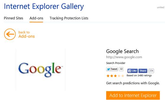 Add Google Search to Internet Explorer
