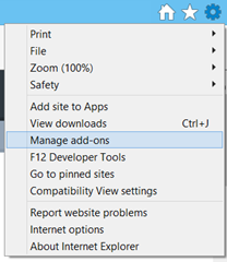 Manage add-ons in Internet Options