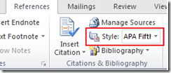 Bibiliography in Word 2013 and Word 2010
