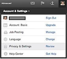 LinkedIn Account & Settings