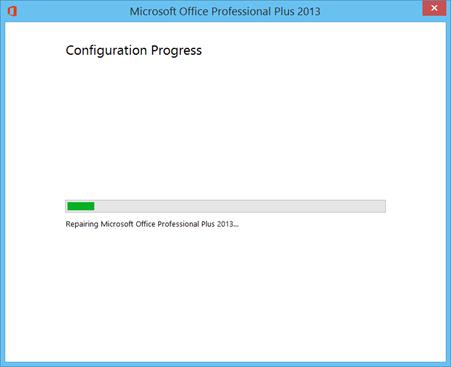 Repairing Microsoft Office Professional Plus 2013
