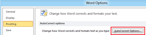 Word Options Word 2010