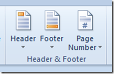Header & Footer Word 2010