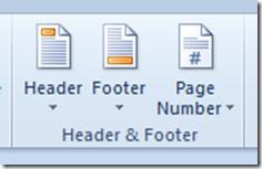 Header & Footer Word 2010