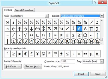 more symbols in Word 2010