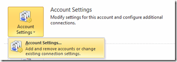 Account Settings in Outlook 2013 and Outlook 2010