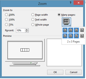 Show Many pages Zoom Option